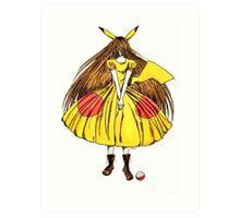 Lady Pikachu Art Print