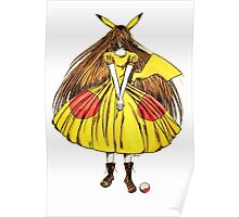 Lady Pikachu Poster