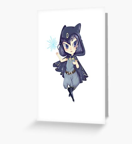 Chibi witch Greeting Card