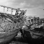 couple de bateaux en noir et blanc by seccotine