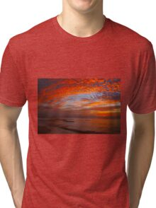 Sunset in Cancun, Mexico Tri-blend T-Shirt
