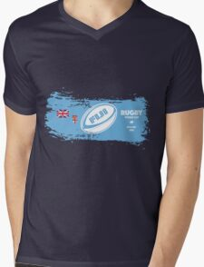 Fiji World Cup Rugby Supporter Mens V-Neck T-Shirt