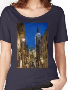 France. Normandy. Rouen. The Great Clock at Night. Women's Relaxed Fit T-Shirt