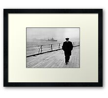 Winston Churchill At Sea Framed Print