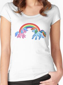 Generation Swap - Rainbow Dash and Firefly Women's Fitted Scoop T-Shirt