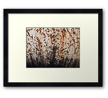 Rusted Metal White and Black Framed Print