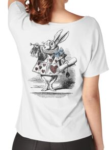 White Rabbit from Alice's Adventures in Wonderland Women's Relaxed Fit T-Shirt