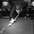 Shooting Pool - Action Shot by Sam Goodman