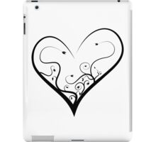 Black heart iPad Case/Skin