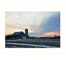 Parker City Farm sunset Art Print