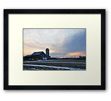 Parker City Farm sunset Framed Print