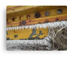 Yellow Rusty Crusty Frost-Licked Sign Canvas Print