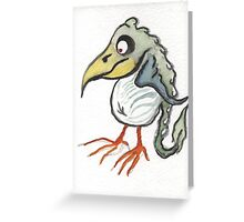 down bird Greeting Card