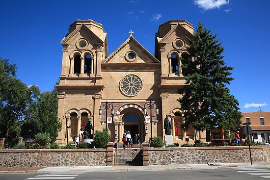 Santa Fe - Basilica of St. Francis of Assisi by Frank Romeo