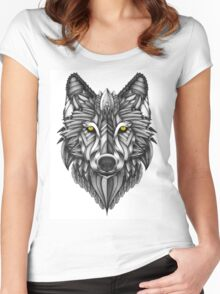 Ornate Wolf Women's Fitted Scoop T-Shirt