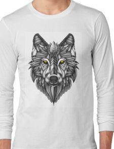 Ornate Wolf Long Sleeve T-Shirt