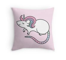 Pretty Rat Unicorn Throw Pillow