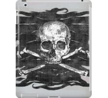 Old Crossbones Skull Pirate Flag iPad Case/Skin