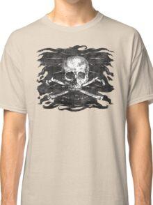 Old Crossbones Skull Pirate Flag Classic T-Shirt