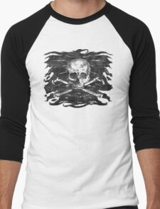 Old Crossbones Skull Pirate Flag Men's Baseball ¾ T-Shirt