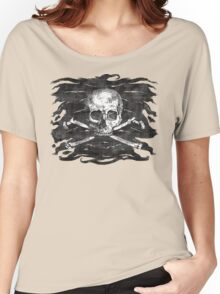 Old Crossbones Skull Pirate Flag Women's Relaxed Fit T-Shirt