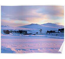 Dartmoor Snowy Sunset Poster