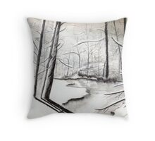 Woods in the Winter Throw Pillow
