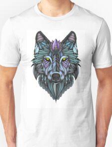 Ornate Wolf (Full Colored) Unisex T-Shirt