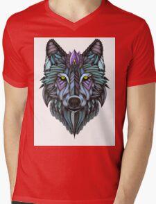 Ornate Wolf (Full Colored) Mens V-Neck T-Shirt