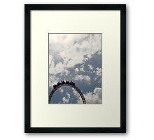 Rollercoaster Peak Framed Print