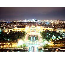 Paris at Night Photographic Print