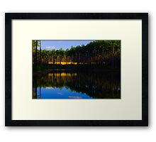 Blue Sky on Gated Community Pond Framed Print