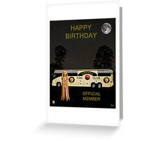 The Scream World Tour Cricket  tour bus Happy Birthday Greeting Card