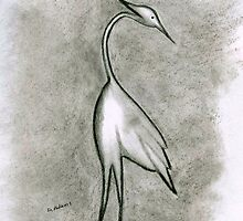 Egret by Debbie  Adams