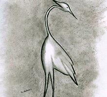 Egret by Debbie  Adams
