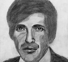 205 - LEONARD COHEN - DAVE EDWARDS - PENCIL - 2006 by BLYTHART