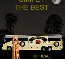 The Scream World Tour Cricket  tour bus Simply The Best by Eric Kempson