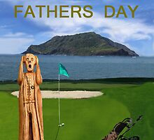 The Scream World Tour Golf  Happy Fathers Day by Eric Kempson