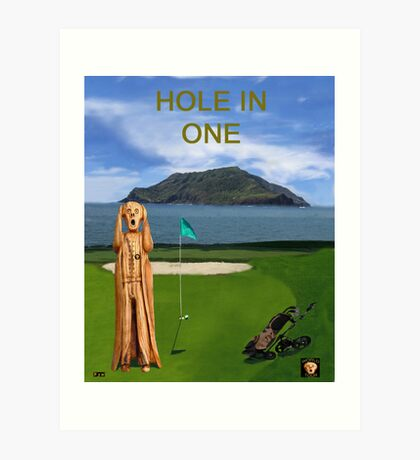 The Scream World Tour Golf  Hole in one Art Print