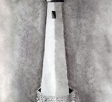 Old White Lighthouse by Debbie  Adams