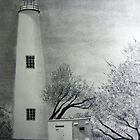 Ocracoke Lighthouse by Debbie  Adams