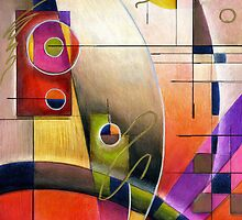 Alma Lee Abstract Calendar by Alma Lee