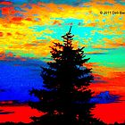 Pine Against Patchwork Sky by Deb  Badt-Covell