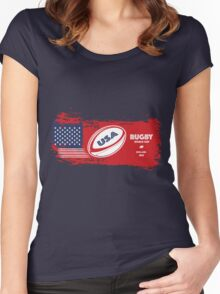 USA Rugby World Cup Women's Fitted Scoop T-Shirt