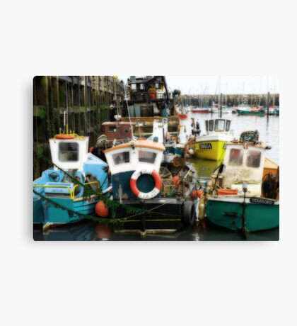 Scarborough Harbour Fishing boats Canvas Print