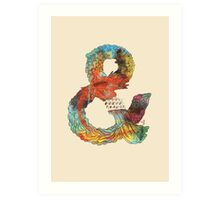 Psychedelic Ampersand Art Print