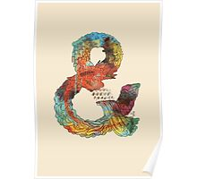 Psychedelic Ampersand Poster