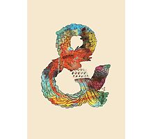Psychedelic Ampersand Photographic Print