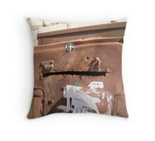 Rusty, Crusty and Definitely Falling to Bits. Throw Pillow