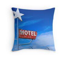 Old Motel Throw Pillow